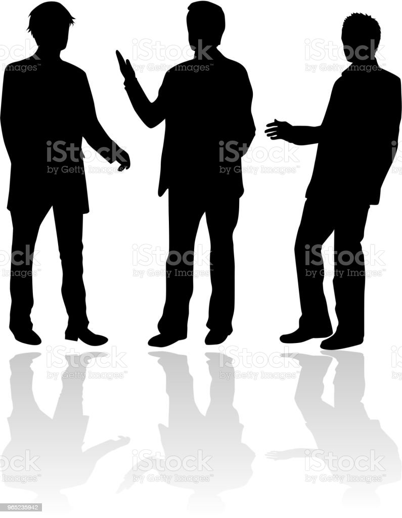 Business people. Silhouettes conceptual. royalty-free business people silhouettes conceptual stock illustration - download image now