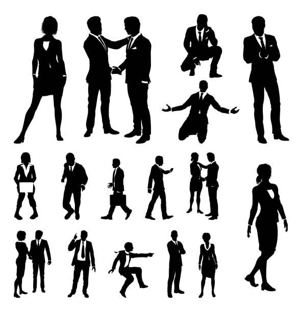 ビジネス人々 のシルエット - ビジネスマン点のイラスト素材/クリップアート素材/マンガ素材/アイコン素材