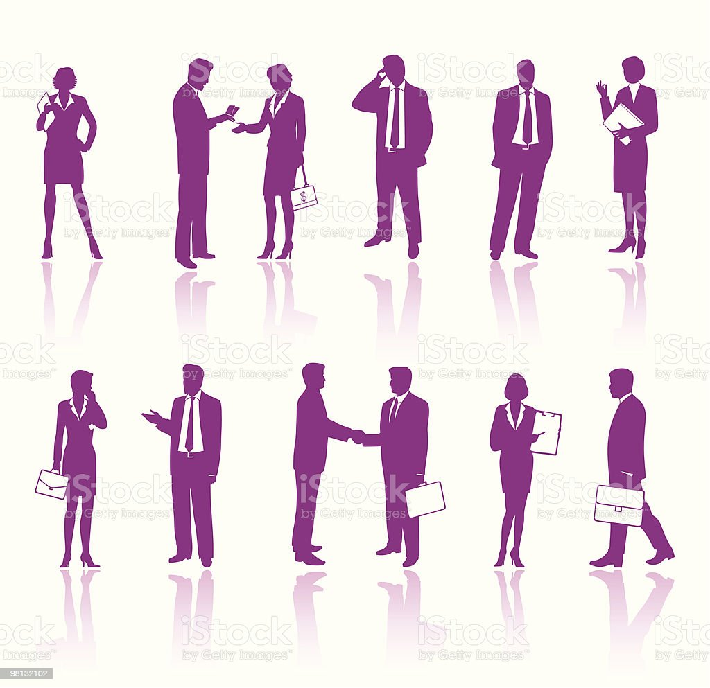 Business people silhouettes royalty-free business people silhouettes stock vector art & more images of adult