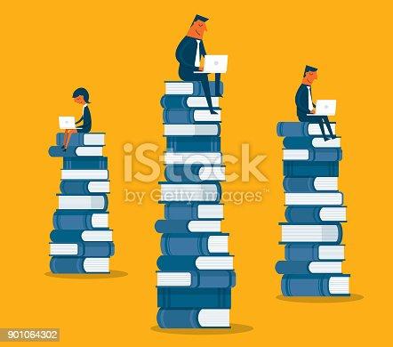 istock Business people sitting on books 901064302