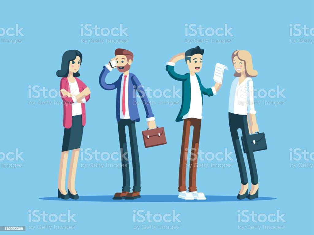 Geschäftsleute, die ständigen – Vektorgrafik