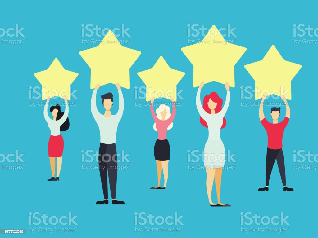 Business people standing. - Royalty-free Abstract stock vector