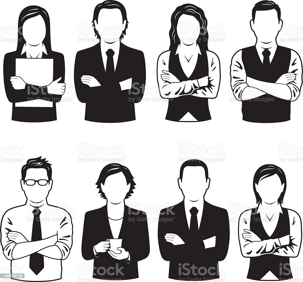 Las personas de negocios de símbolos - ilustración de arte vectorial