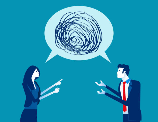 Business people talking nonsense speech. Concept business vector, Bubble speech, Meeting, Communication. Business people talking nonsense speech. Concept business vector, Bubble speech, Meeting, Communication. arguing stock illustrations