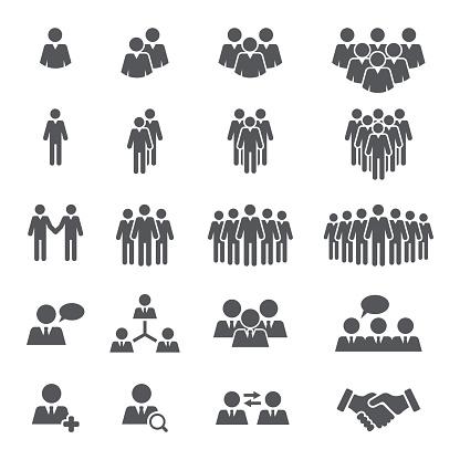 Business People Team Icon Set