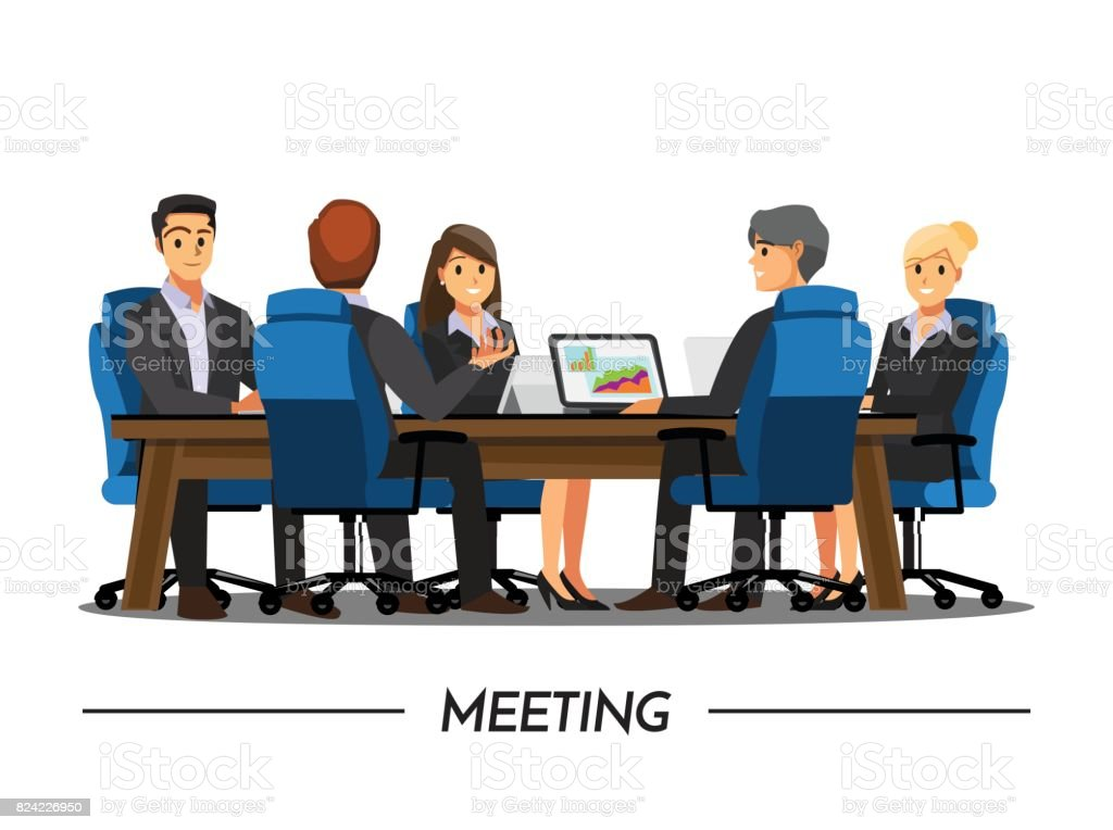 royalty free business meeting clip art vector images rh istockphoto com business office meeting clipart business office meeting clipart