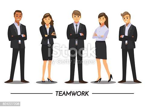 istock Business People teamwork ,Vector illustration cartoon character. 824227208