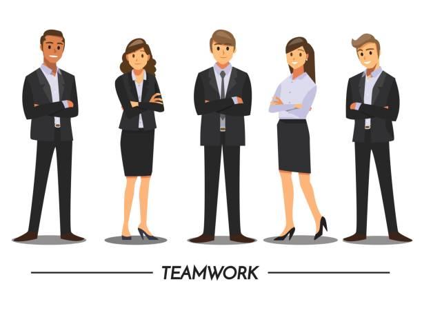 ilustrações, clipart, desenhos animados e ícones de negócios pessoas trabalho em equipe, personagem de desenho animado de ilustração vetorial. - business man