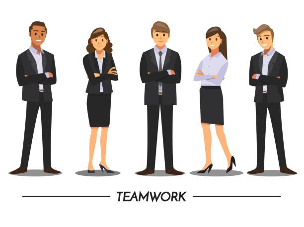 illustrazioni stock, clip art, cartoni animati e icone di tendenza di business people teamwork ,vector illustration cartoon character. - business man