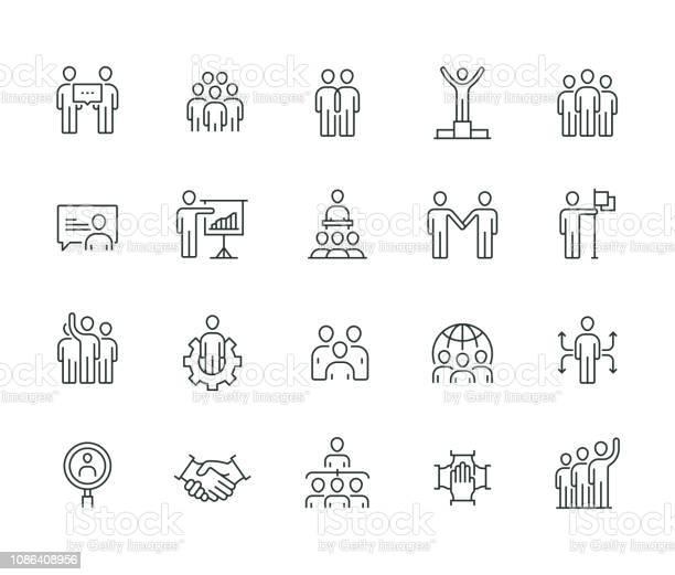 Gens Daffaires Mince Ligne Série Vecteurs libres de droits et plus d'images vectorielles de Accord - Concepts
