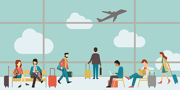 business people travel - business travel stock illustrations, clip art, cartoons, & icons