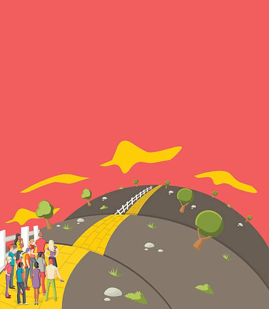 Yellow Brick Road Illustrations, Royalty-Free Vector ...