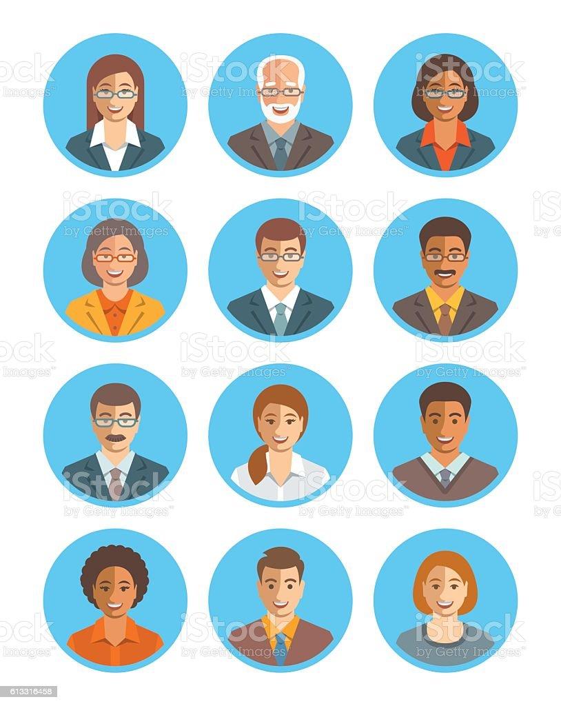 Business people vector avatars set vector art illustration