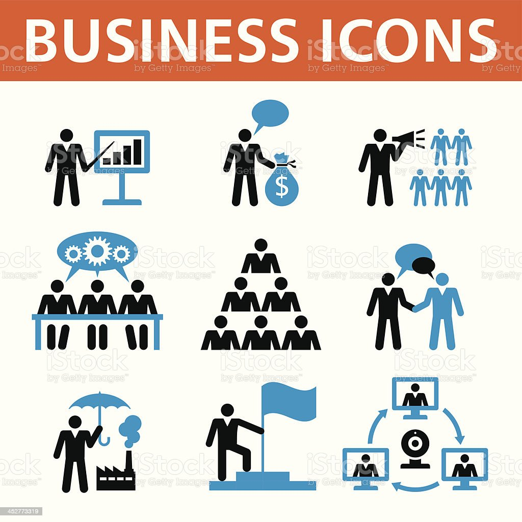 Business People Vector Icons Set royalty-free business people vector icons set stock vector art & more images of adult