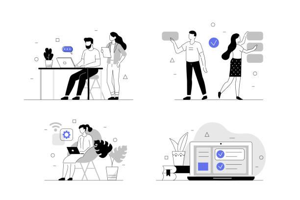 商務人士 - 插圖 幅插畫檔、美工圖案、卡通及圖標