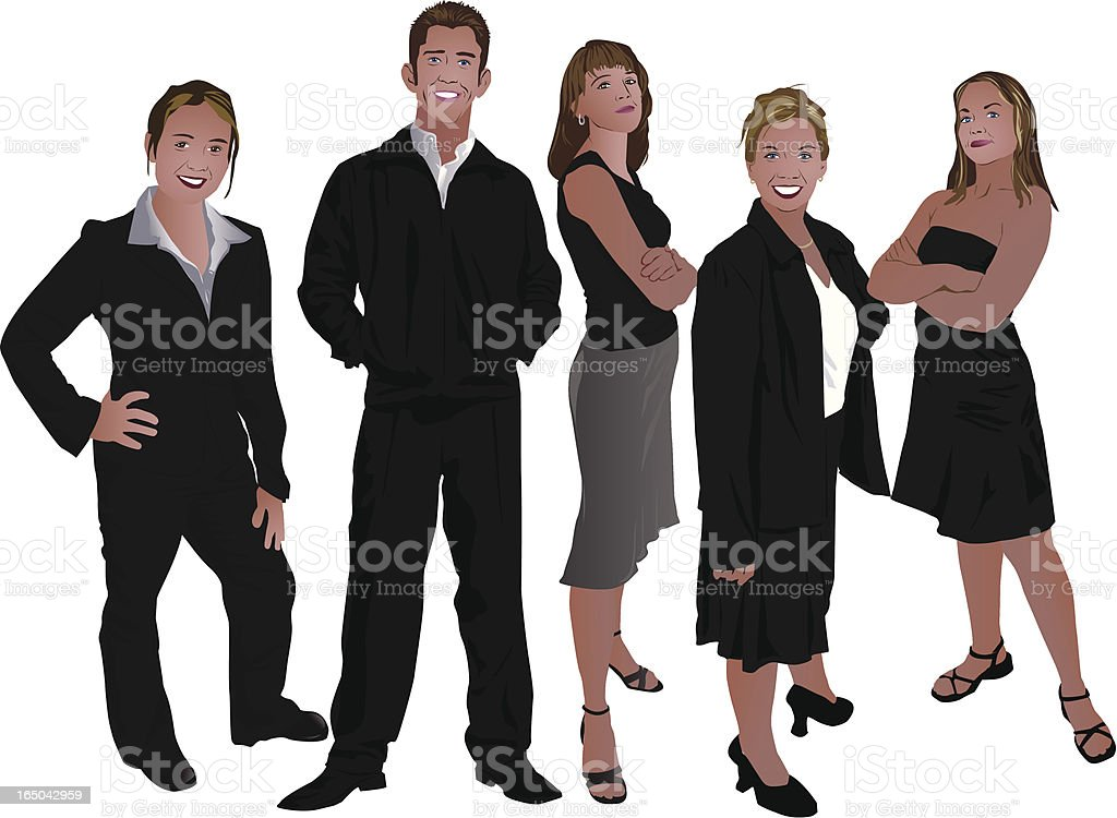 Business People (vector) royalty-free stock vector art