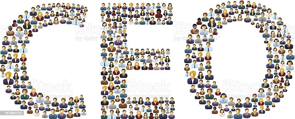 CEO business people royalty-free stock vector art