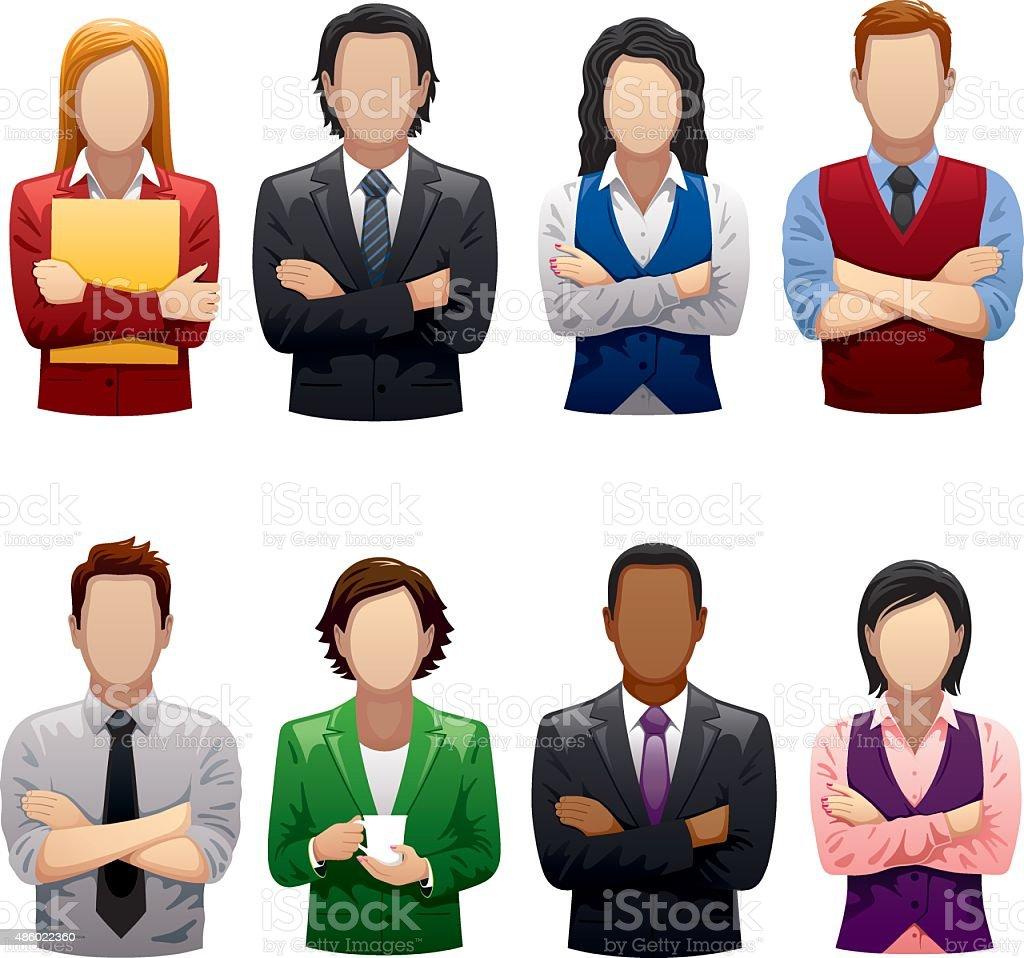 Personas de negocios - ilustración de arte vectorial