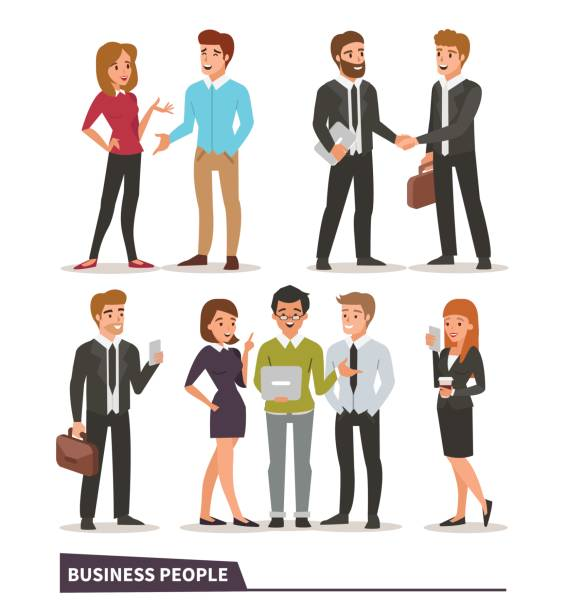 illustrazioni stock, clip art, cartoni animati e icone di tendenza di business people - business man