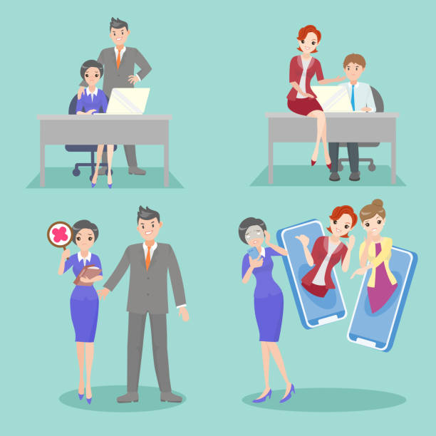 Harassment Illustrations, Royalty-Free Vector Graphics