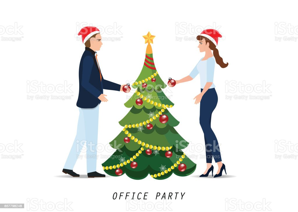 business people with red santa claus hats celebrate christmas royalty free business people with - How Many People Celebrate Christmas