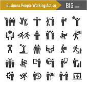 Business People Working Action Icons - Big Series