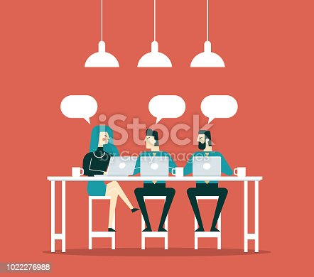 Business people working together in the coffee shop