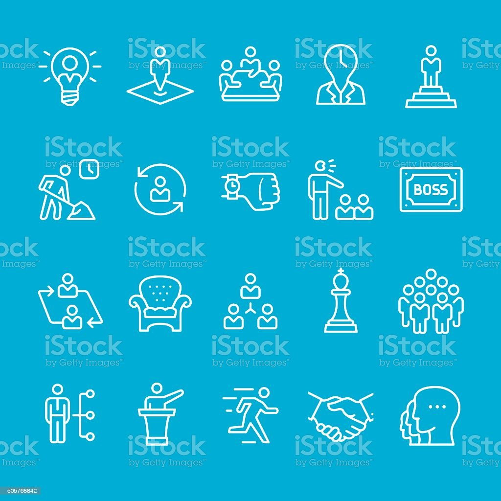 Business Person and Corporate Hierarchy icon vector art illustration