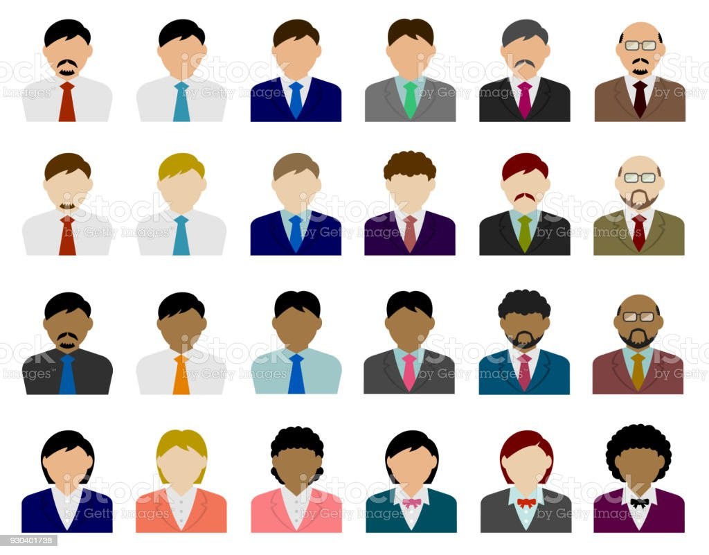 Business Person Avatar Abbildung Sets – Vektorgrafik