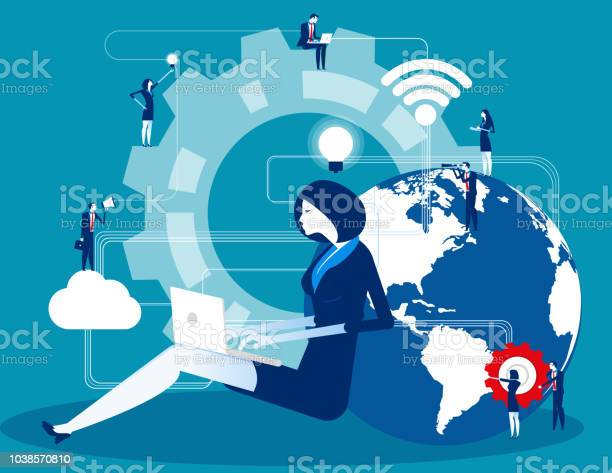 Business person filled with ideas thoughts and analytics, Concept business creative graphic vector illustration, Office people cooperation for company Business person filled with ideas thoughts and analytics, Concept business creative graphic vector illustration, Office people cooperation for company Adult stock vector