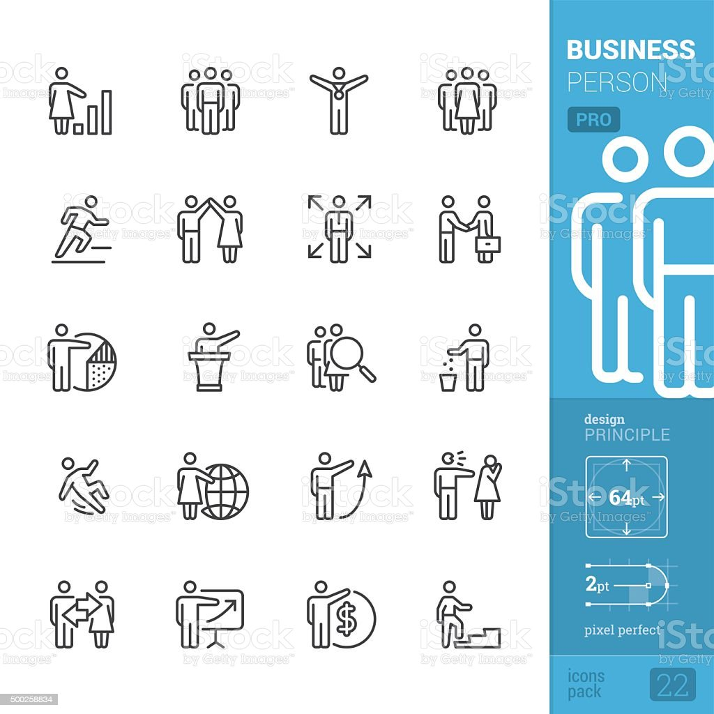 Business Person related vector icons - PRO pack vector art illustration