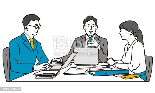 istock Business person to have a meeting 1324633495