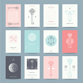 Business, Personal Cards Collection With Keys