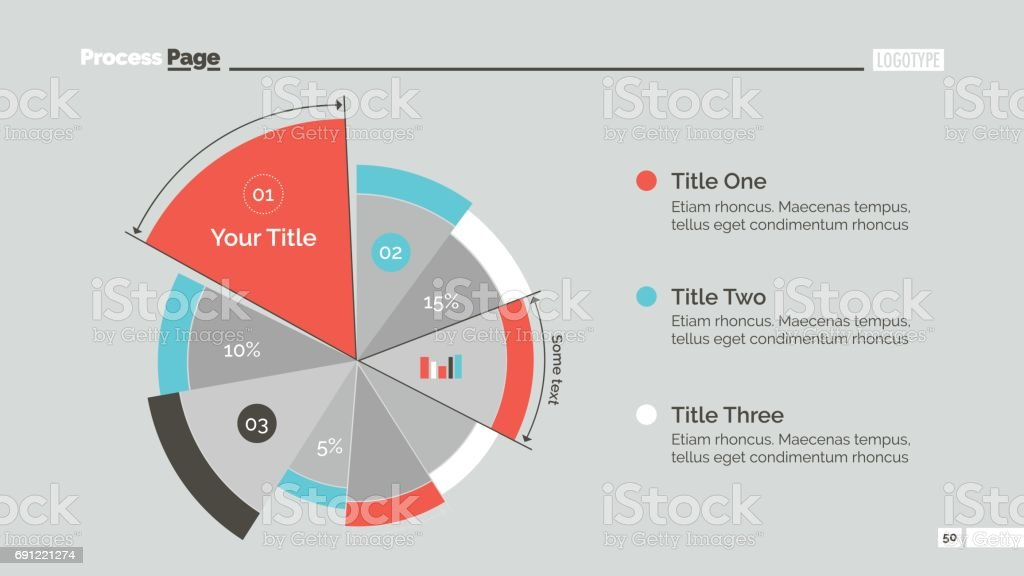 Business Pie Chart Slide Template vector art illustration