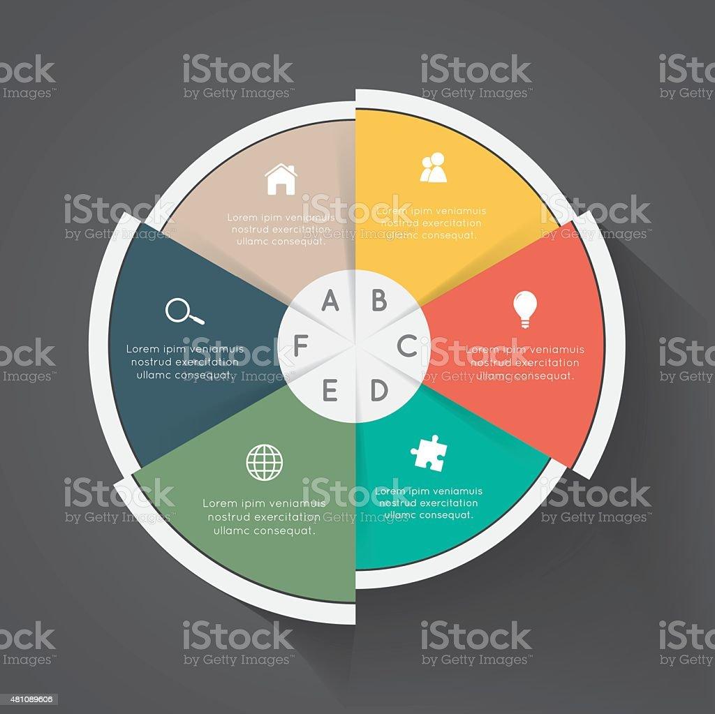 Business pie chart vector art illustration