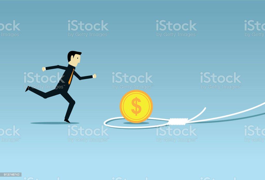 Business pitfall vector art illustration