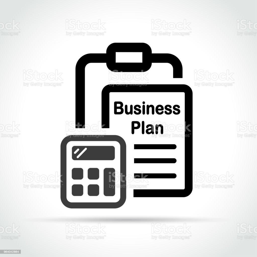 business plan icon on white background - Royalty-free Business stock vector