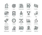 Business Plan Icons - Line Series