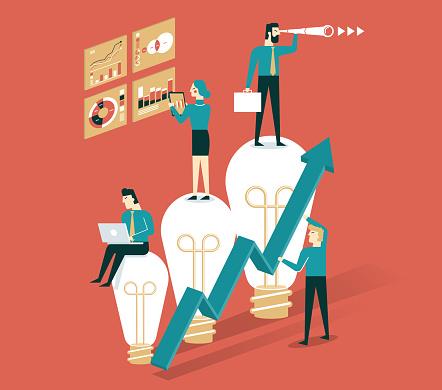 Business plan - lightbulb