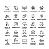 Business Plan Modern Outline Icon Set