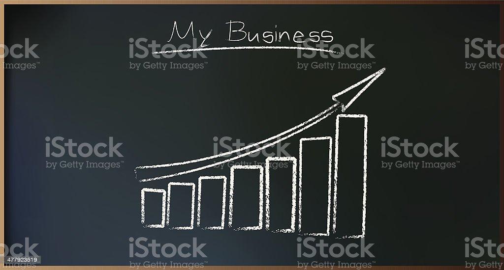 Business Plan on Schoolboard royalty-free stock vector art