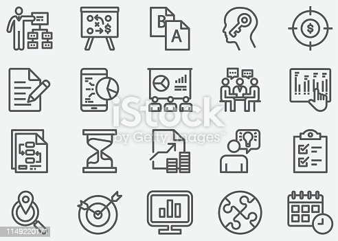 Business Planing Line Icons