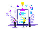 istock Business Planning and Strategy Landing in Checklist for Web Page or Website 1201847659