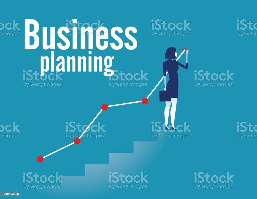 ビジネス ・ プランニング。コンセプト事業ベクトル イラスト。フラットなデザイン スタイル。 ベクターアートイラスト