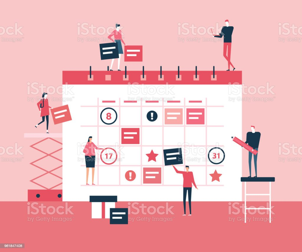 Business-Planung - flachen design Stil Illustration – Vektorgrafik