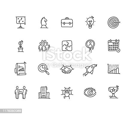 Business Planning Icon set