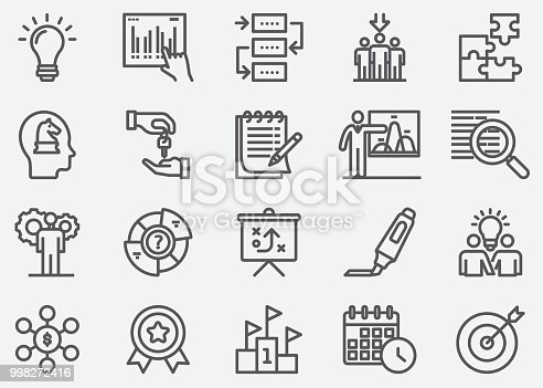 Business Planning Line Icons