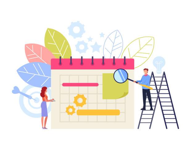Business planning organization concept. Vector flat cartoon graphic design illustration vector art illustration