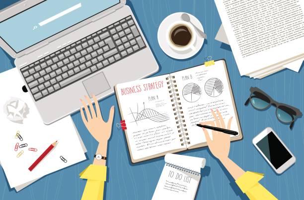 illustrazioni stock, clip art, cartoni animati e icone di tendenza di business planning - to do list