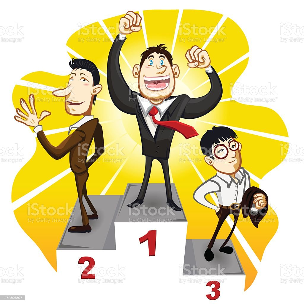 Business Podium With The Winner Businessman Champion royalty-free business podium with the winner businessman champion stock vector art & more images of achievement